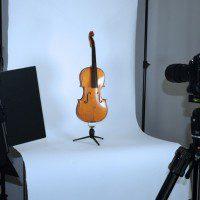 fotografia nel campo del visibile di documentazione dello stato di salute del violino